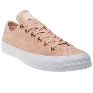 Converse All Star metallic suede dusty pink 7